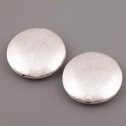 Korálek postříbřený - disk baculatý - 26mm