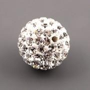 Korálek s kamínky - Crystal - 12mm