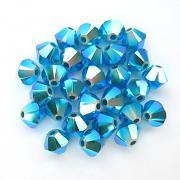 Swarovski Elements korálky XILION 5328 – Sluníčka – Caribbean Blue Opal AB2X – 6mm