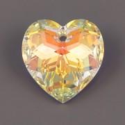 Swarovski Elements přívěsky 6215 – Srdce – Crystal AB – 18mm