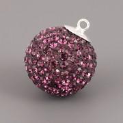 Kulička s kamínky - Ag925 - Amethyst 18mm