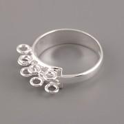 Prsten pro ketlování - roztahovací - Ag925