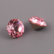 Swarovski Elements XILION Chaton 1028 – Light Rose Foiled – 8mm