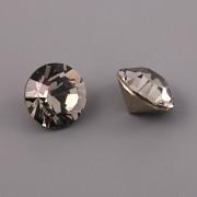 Swarovski Elements XILION Chaton 1088 – Black Diamond Foiled – 8mm