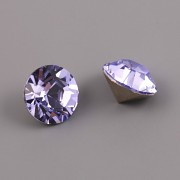 Swarovski Elements XILION Chaton 1028 – Provence Lavender Foiled – 8mm
