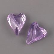 Swarovski Elements 5743 – Divoké srdce korálek – Violet – 17mm