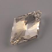 Swarovski Elements přívěsky 6320 – Rhombus – Silver Shade – 14mm