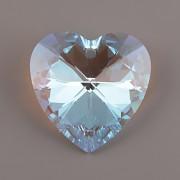 Swarovski Elements přívěsky 6228 – Srdce – Crystal Blue AB – 40mm