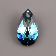 Swarovski Elements přívěsky 6106 – Hruška – Bermuda Blue – 22mm