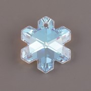 Swarovski Elements přívěsky 6704 – Sněhová vločka – Crystal Blue AB – 25mm