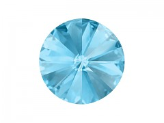 Swarovski Elements Rivoli 1122 – Aquamarine Foiled – 18mm