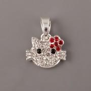Přívěsek Hello Kitty zdobený štrasovými kamínky - velká