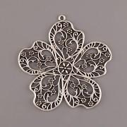Přívěsek filigránová květina - kovový