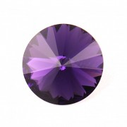 Swarovski Elements Rivoli 1122 – Purple Velvet Foiled – 10mm