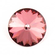 Swarovski Elements Rivoli 1122 – Antique Pink Foiled – 14mm