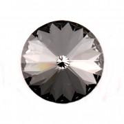 Swarovski Elements Rivoli 1122 – Silver Night Foiled – 18mm