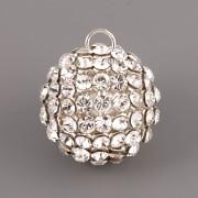 Swarovski Elements - kulička s kamínky - Crystal - 12mm