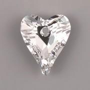 Swarovski Elements přívěsky 6240 – Srdce divoké – Crystal CAL – 17mm