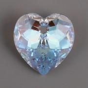 Swarovski Elements přívěsky 6215 – Srdce – Crystal Blue AB – 18mm