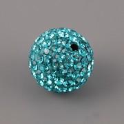 Korálek s kamínky - Blue Zircon - 12mm