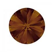 Swarovski Elements Rivoli 1122 – Bronze Shade Foiled – 8mm