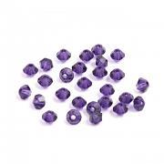 Swarovski Elements korálky XILION 5328 – Sluníčka – Purple Velvet – 4mm