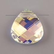 Swarovski Elements přívěsky 6012 - Flat Briolette – Crystal AB - 11mm