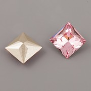 Princess Square Swarovski Elements 4447 – Light Rose Foiled – 12mm