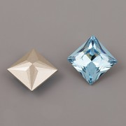 Princess Square Swarovski Elements 4447 – Aquamarine Foiled – 12mm