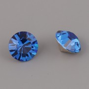 Swarovski Elements XILION Chaton 1088 – Capri Blue Foiled – 8mm