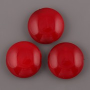 Lentilka červená - 21mm
