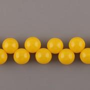 Korálky třešinka - žlutá - 12mm