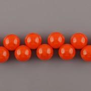 Korálky třešinka - světleoranžová - 12mm