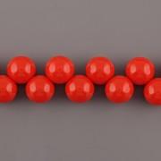 Korálky třešinka - tmavěoranžová - 12mm