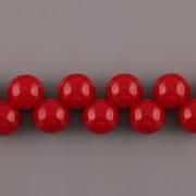 Korálky třešinka - červená - 12mm