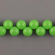Korálky třešinka - zelená - 12mm