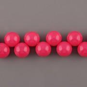 Korálky třešinka - růžová - 12mm