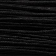 Šnůrka bavlněná - černá - metráž