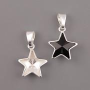 Přívěsek s rámečkem pro nalepení Star Fancy Swarovski Elements 4745 - Ag925