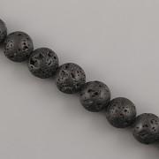 Korálky z minerálů - LÁVA - 10mm
