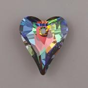 Swarovski Elements přívěsky 6240 – Srdce divoké – Crystal Vitrail Medium – 17mm