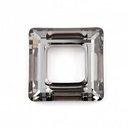 Swarovski Elements 4439 – Square Ring – Silver Night – 20mm