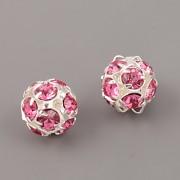 Štrasové korálky - Rose - 12mm