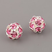 Štrasové korálky - Rose - 10mm