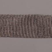 Drátěná stužka 1m - šíře 18mm - šedá