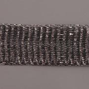 Drátěná stužka 1m - šíře 18mm - černá se stříbrem