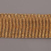 Drátěná stužka 1m - šíře 18mm - zlatá se zlatem