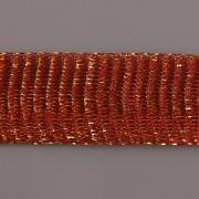 Drátěná stužka 1m - šíře 18mm - červená se zlatem