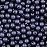 Nano Perličky - 100ks - 4mm - barva 1625042 - temně modré