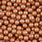 Nano Perličky - 100ks - 4mm - barva 2125003 - světle hnědé